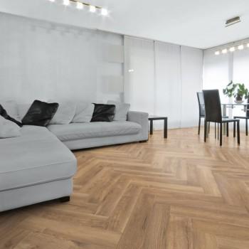 Kronotex Herringbone D4764 Treviso Oak halszálka laminált padló