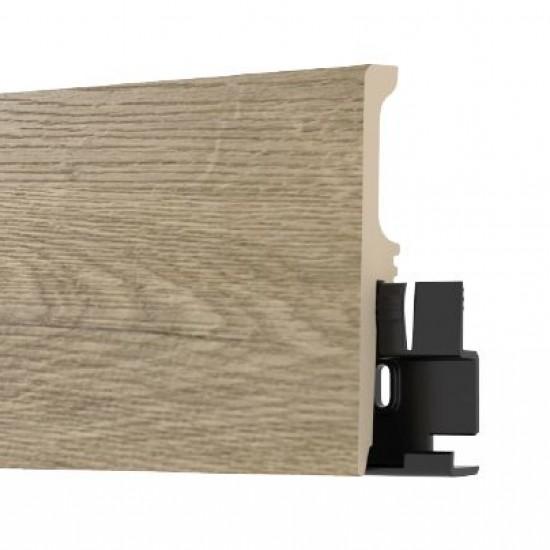 Arbiton TORE80 LEONARD OAK színazonos, vízálló szegélyléc. 8cm magas