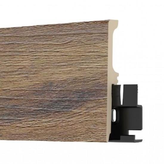 Arbiton TORE80 NEVADA WALNUT színazonos, vízálló szegélyléc. 8cm magas