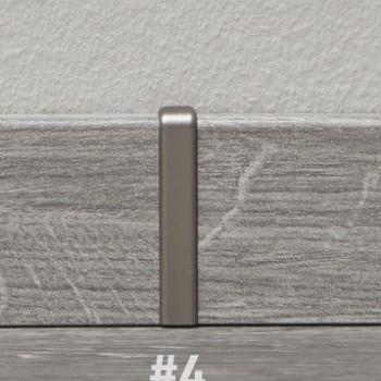 Kronotex szegélyléc toldó elem - világos barna